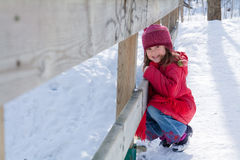 Little winter girl Royalty Free Stock Image