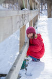 Little winter girl Royalty Free Stock Photography