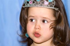 Cute little girl with a crown Royalty Free Stock Images