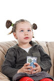Cute little girl with cup Royalty Free Stock Images