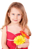 Cute little girl with daisies Royalty Free Stock Photo