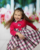 Cute little girl dances Royalty Free Stock Photography