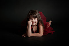 Cute little girl dancing Royalty Free Stock Image