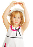Cute little girl dancing with hands Stock Photos