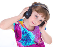 Cute little girl dancing Royalty Free Stock Images