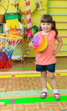 Cute little girl at daycare gym Stock Photography