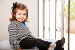Cute little girl at the doctor's office Royalty Free Stock Photos