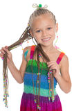 Cute little girl with dreadlocks Royalty Free Stock Photo