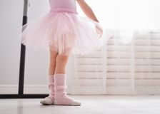 Girl is studying ballet royalty free stock image