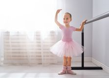 Girl is studying ballet royalty free stock photography