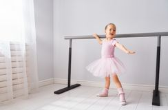 Girl is studying ballet stock photography