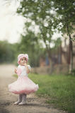 Cute little girl in dress Royalty Free Stock Image