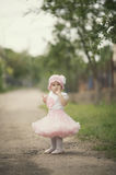 Cute little girl in dress Stock Image