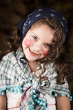 Cute little girl dressed as a traditional easter Stock Photos