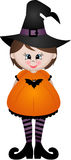 Cute little girl dressed as a witch Royalty Free Stock Photography