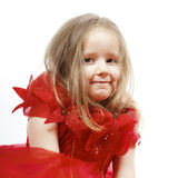 Cute little girl dressed like a princess, close-up portrait Stock Image