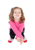 Cute little girl ducking Royalty Free Stock Images