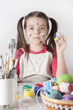 Cute little girl with easter egg Royalty Free Stock Photo