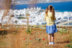 Cute little girl enjoying views Stock Photos