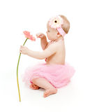 Cute little girl with flower Stock Images