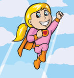 Cute little girl flying Royalty Free Stock Photo