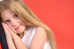 Cute little girl funny express Royalty Free Stock Photo