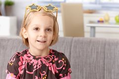 Cute little girl with funny glasses Stock Image