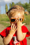 Cute little girl glasses Royalty Free Stock Photo