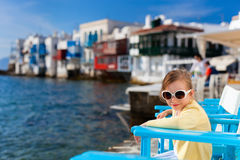 Cute little girl in Greece Stock Image