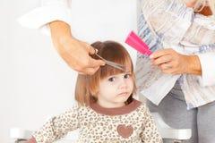 Cute little girl hair style Royalty Free Stock Photo