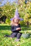Cute little girl in Halloween which costume have Royalty Free Stock Photos