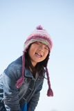 Cute little girl with hat Stock Photos