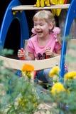 Cute little girl having fun. Stock Photo