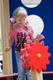 Cute little girl having fun. Stock Image