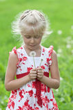 Cute little girl having fun. Royalty Free Stock Images