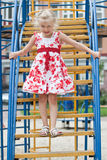 Cute little girl having fun. Stock Images