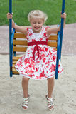 Cute little girl having fun. Royalty Free Stock Image