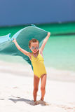 Cute little girl having fun on beach vacation Stock Photography