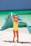 Cute little girl having fun on beach vacation Royalty Free Stock Photo
