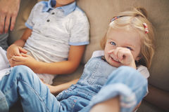 Cute Little Girl Having Fun Royalty Free Stock Images