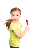 Young Girl Having Fun with Her Icecream Royalty Free Stock Photos