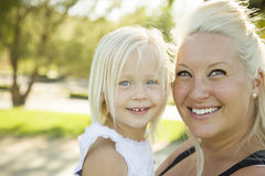 Cute Little Girl Having Fun With Her Mother stock image