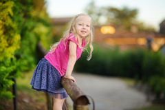 Cute little girl having fun in Lonato del Garda, a small town and comune in the province of Brescia, Italy. Cute little girl having fun in Lonato del Garda, a Stock Photography