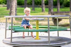Cute little girl having fun at playground Stock Photography
