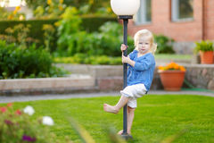 Cute little girl having fun on a summer day Royalty Free Stock Photography