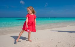 Cute little girl during her caribbean summer Stock Images