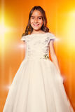 Cute Little Girl in her First Communion Day Royalty Free Stock Image
