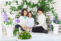 Cute little girl, her mother and grandmother Royalty Free Stock Image