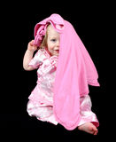 Cute little girl hiding Stock Photography