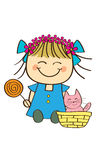 Cute little girl. Holding candy Stock Images